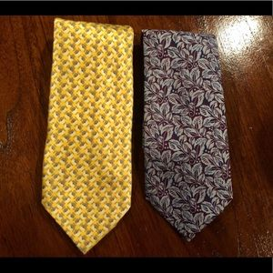 Set of 2 Burberry ties. Authentic